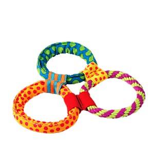 """PETSTAGES Healthy Hoops Игрушка для собак """"Три кольца текстильные"""""""