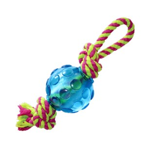"PETSTAGES Mini Orka Ball w/rope Игрушка для собак ""Орка мини мячик с канатиками"""