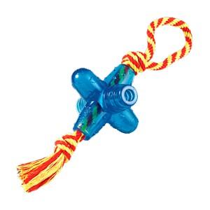 "PETSTAGES Orka Jack smal w/rope Игрушка для собак ""Oрка Джек малая с канатиком"""