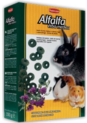 Натуральный деликатесный растительный корм для кроликов и грызунов Padovan ALFALFA