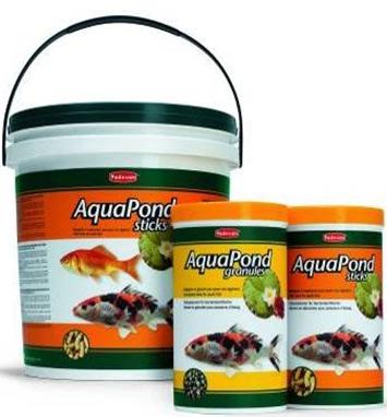 полнорационный корм в виде плавающих гранул для прудовых рыб (зеркальные карпы, караси, язи и другие) AQUA POND sticks