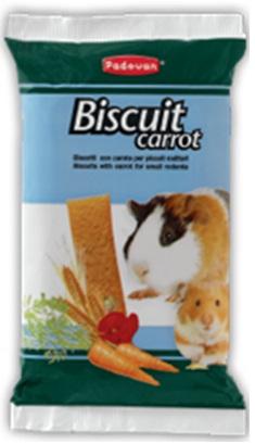 Бисквиты для грызунов с морковью Padovan Biscuit carrot