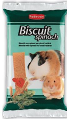 Бисквиты со шпинатом для грызунов Padovan BISCUIT SPINACH