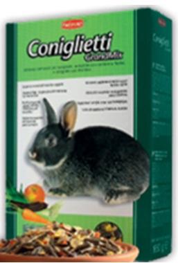 Комплексный сбалансированный основной корм для кроликов Padovan GRANDMIX CONIGLIETTI
