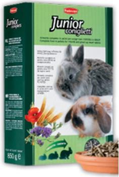 Корм для молодых декоративных кроликов комплексный основной Padovan JUNIOR CONIGLIETTI