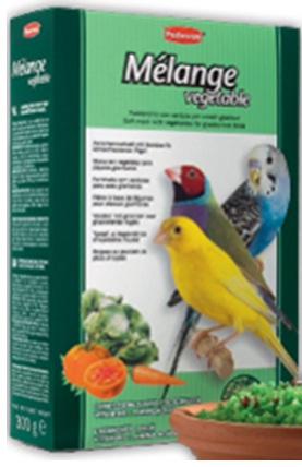 Дополнительный корм с овощами для зерноядных птиц MELANGE VEGETABLE
