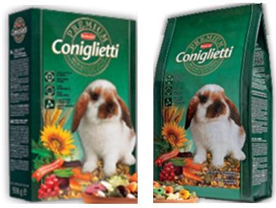Комплексный основной корм для декоративных кроликов и молодняка Padovan PREMIUM CONIGLIETTI