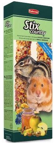 Дополнительный корм для хомяков, белок и других мелких грызунов Padovan STIX COUNTRY