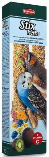 корм для волнистых попугаев и маленьких экзотических птиц STIX HERBS