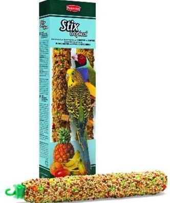 корм для волнистых попугаев и маленьких экзотических птиц STIX TROPICAL