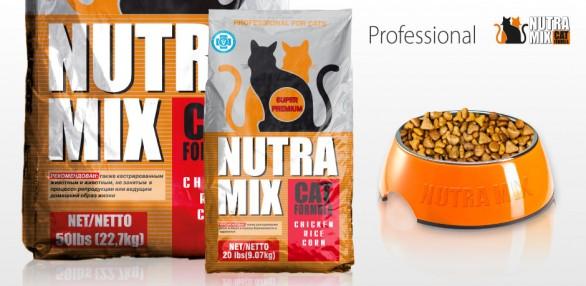 Корм для кошек nutra mix professional