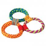 PETSTAGES Healthy Hoops Три кольца текстильные - игрушка для собак