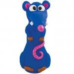 """PETSTAGES Lil Kooky Rat Игрушка-пищалка для малых и средних пород собак """"Синяя Крыса Розовый Нос"""""""